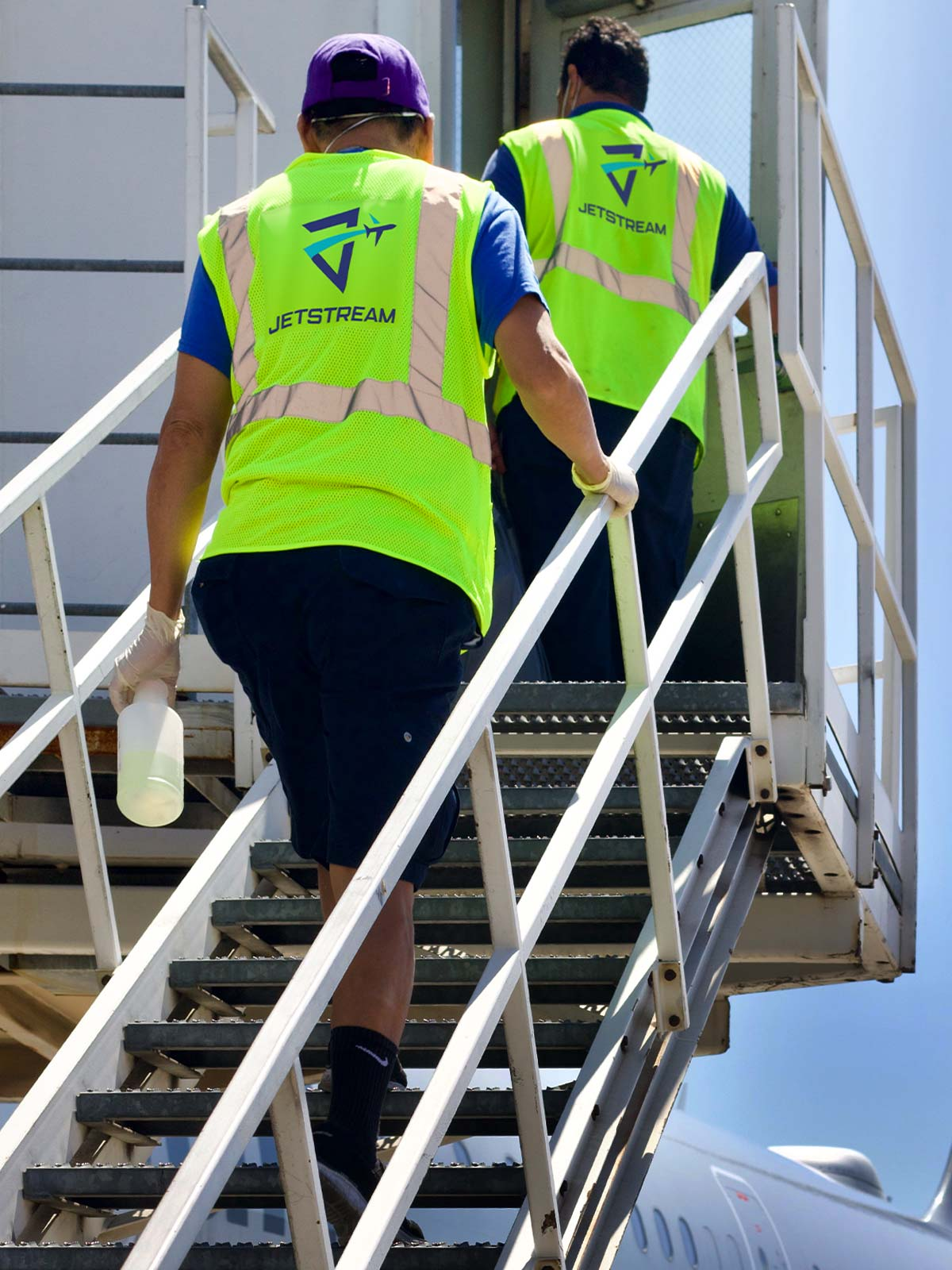 Jetstream aviation, airline, and airplane cleaning and sanitization services