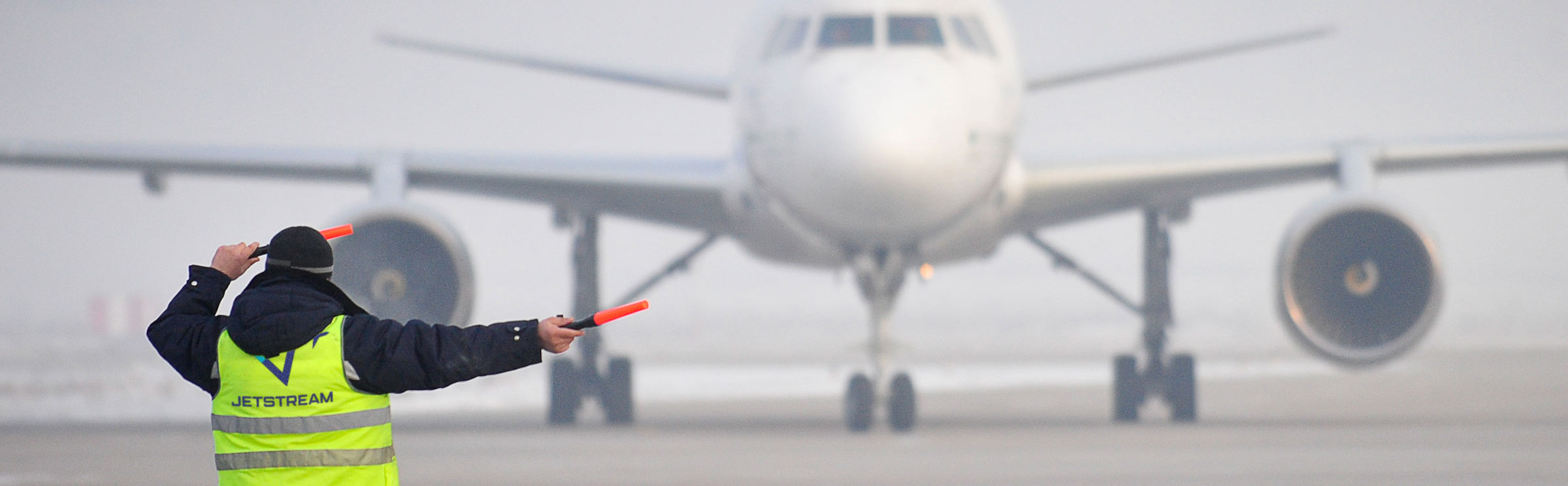 Jetstream Ground Services airplane marshaling