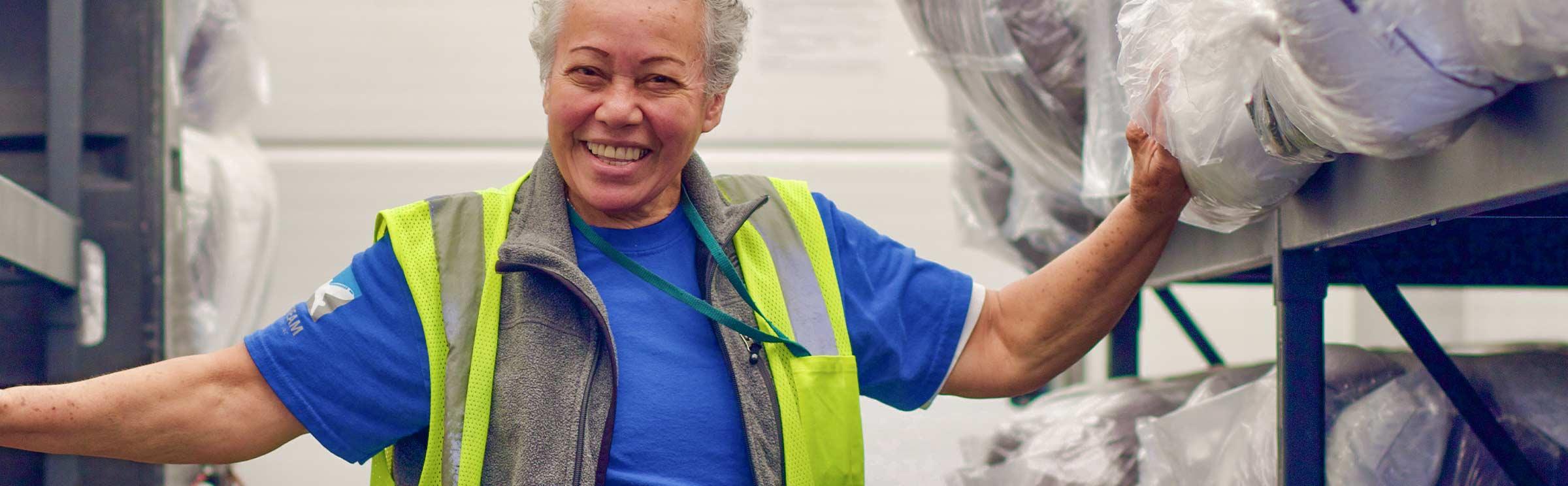 Jetstream success stories ground services employee in warehouse